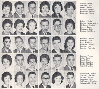 Chieftain Yearbook Photos 1962 -- Our Junior Year