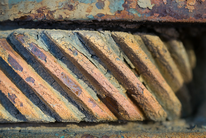 Rust and Textured Worm Gear