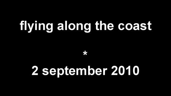 ultralighting along the coast - september 2010