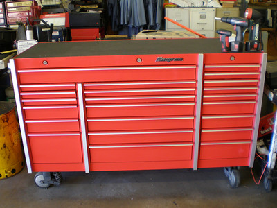 Tool box and tools for insurance info.