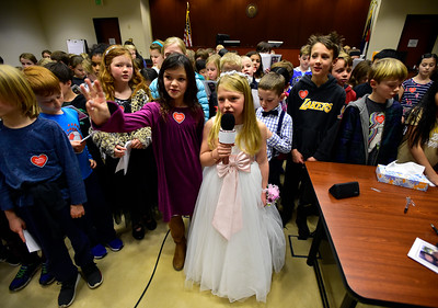 Photos: Louisville Elementary Students Join Classmate for Adoption Hearing