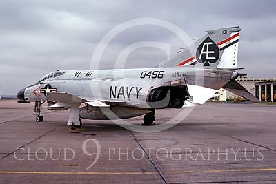 U.S. Navy F-4 Phantom II Airplanes in Bicentennial Color Scheme