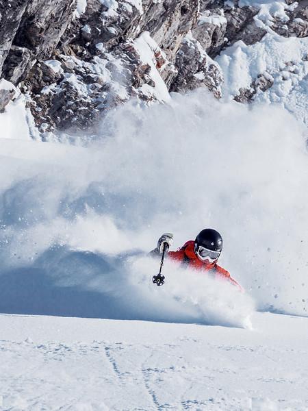 Daniel Dold, powder run, Schinder Spitze St. Anon am Arlberg
