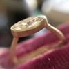 1.17ct Antique Moval Cut Diamond Bezel Ring, GIA E SI1 4