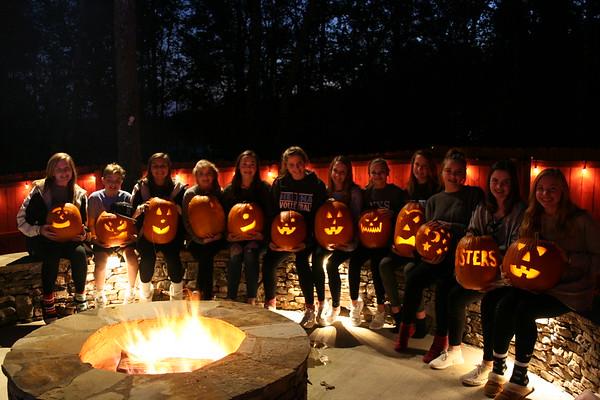 Pumpkin Carving and Bonfire