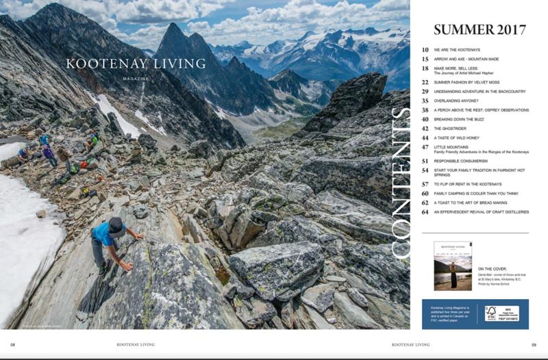 Kootenay  Living Magazine, June 2017