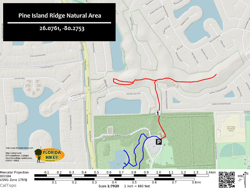 Pine Island Ridge Natural Area Trail Map