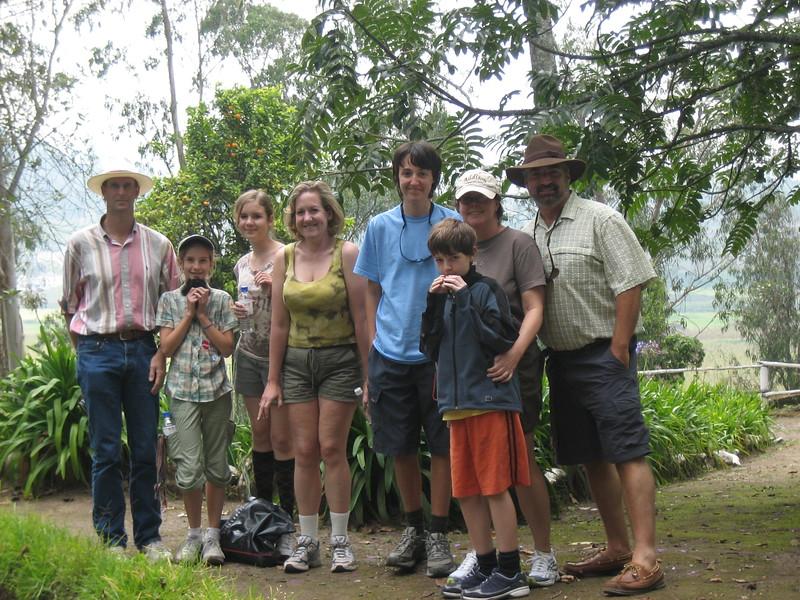 2007-02-24-0015-Galapagos with Hahns-Day 8, Otavalo-Hacienda-Curtis-Elaine-Audrey-Debby-Evan-Jeremy-ElaineH-Eric.JPG