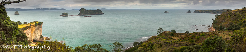 View of Te Whanganui A Hei (Cathedral Cove) Marine Reserve Hahei Coromandel