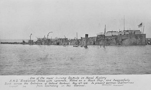 1918: The Zeebrugge and Ostende Raids.