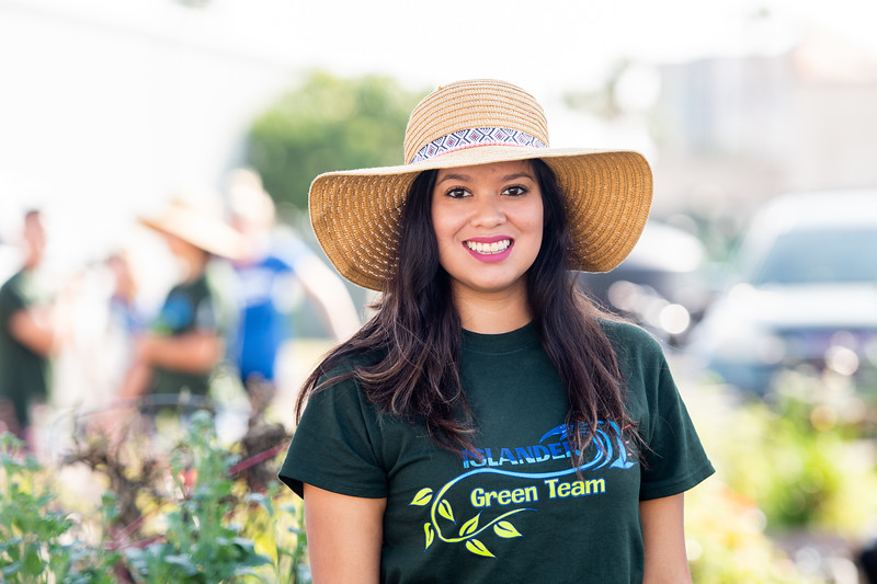 Devika Tijerina President of the Islander Green Garden.