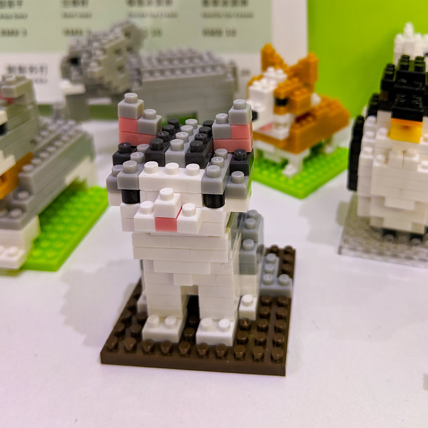 Cute little lego critters at a boba tea place.