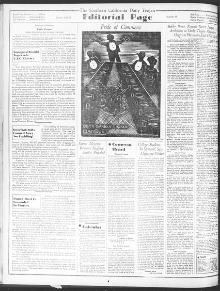 Daily Trojan, Vol. 28, No. 66, January 14, 1937