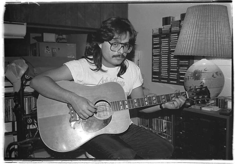 1990-06 COMM217 BW Photography - Self-Portrait- Guitar Dude -01