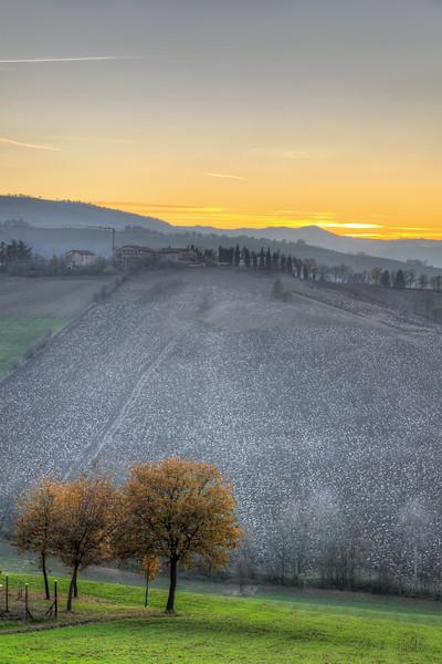 Evening Twilight - Albinea, Reggio Emilia, Italy - December 7, 2011