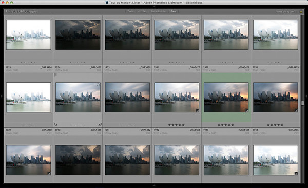 28/02/2014 - Behind the scene, Singapore sunset