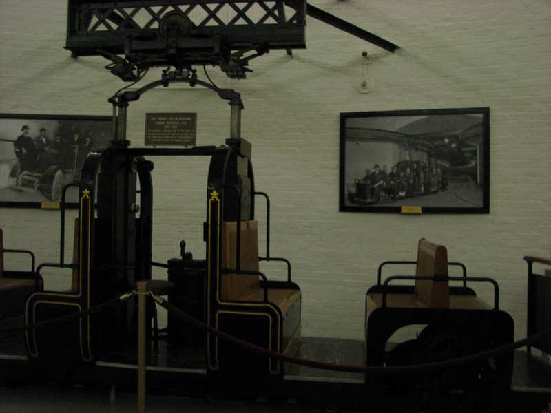 The old school trolleys they used to get around the tunnels underneath the capitol buildings