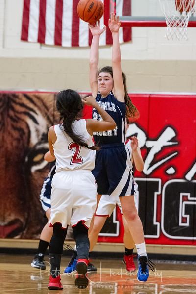 2018-12-07 Hillsdale Academy JV and Varsity Girl's Basketball vs. St. Phil