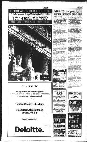 Daily Trojan, Vol. 150, No. 33, October 13, 2003