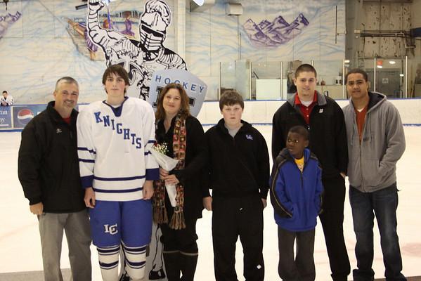 LC Hockey Senior Night vs HC