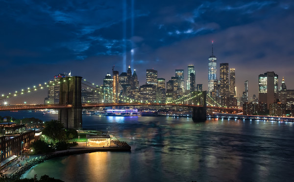 9-11 Tribute Lights in NYC