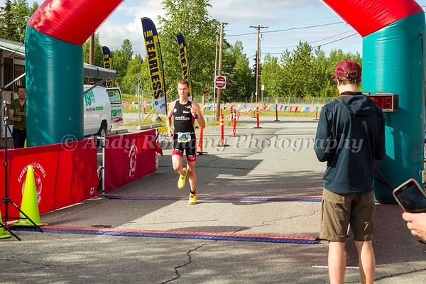 Eagle River Triathlon Finishline