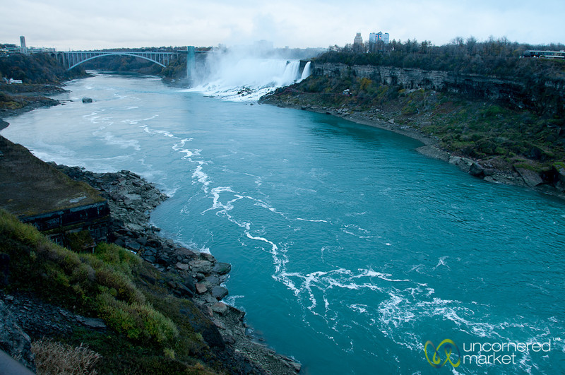 View of Niagara River and Falls from Canada