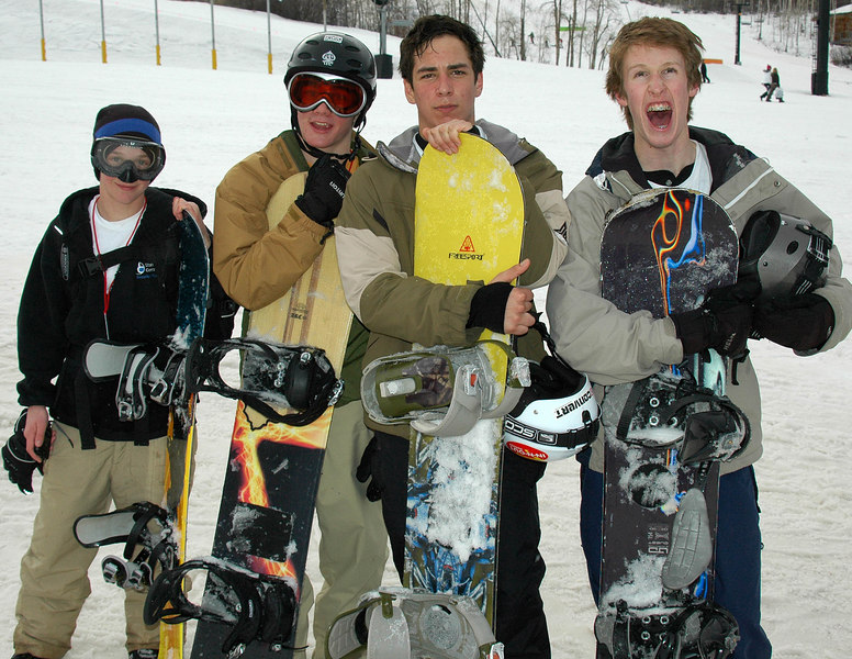 2/10/07 – Sean and his friends went snowboarding today at Park City Mountain Resort. Someone took them up in the morning and I picked them up at the end of the day. It was over 50 degrees at the resort so the snow was very slushy.