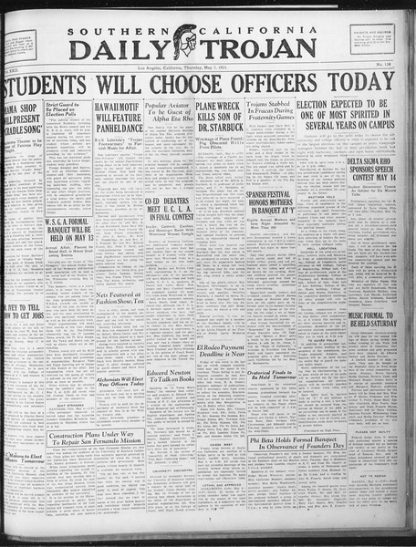 Daily Trojan, Vol. 22, No. 138, May 07, 1931