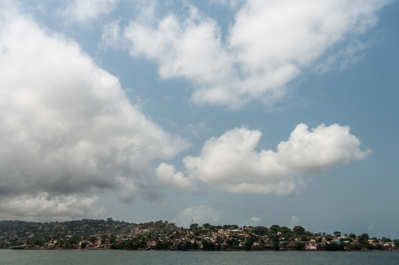 Panorama of Freetown in Sierra Leone