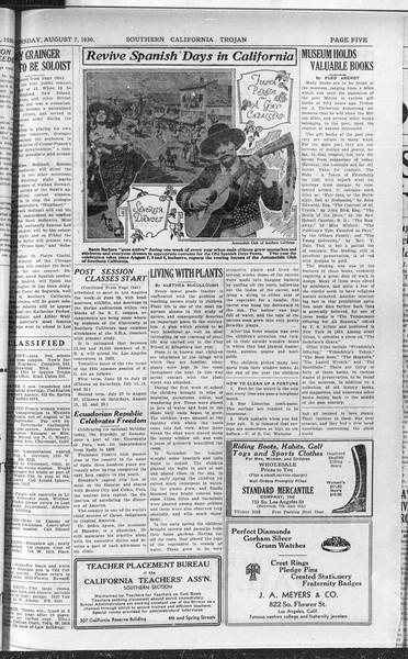 Southern California Trojan, Vol. 9, No. 12, August 07, 1930