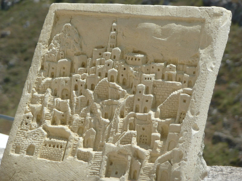 Typical craft in Matera - carved limestone