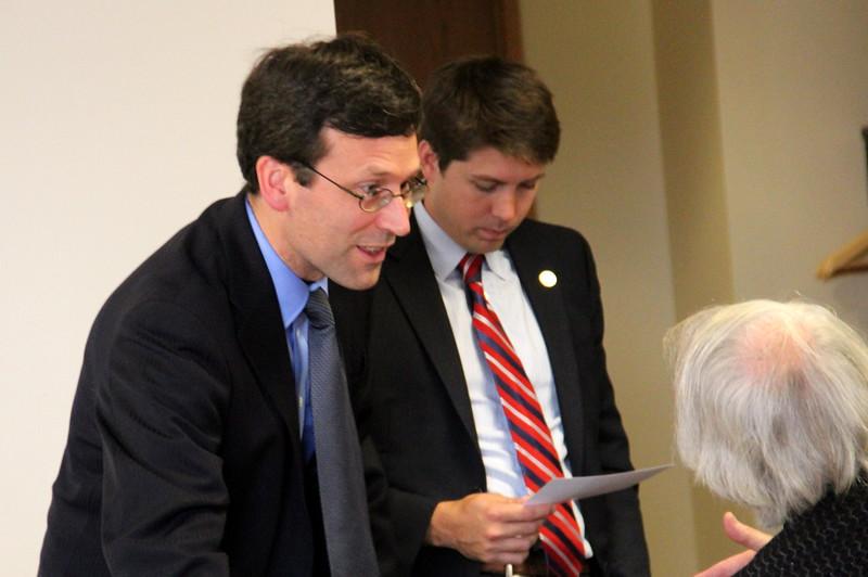 Bob talking to Daniel Fievez with aide Michael Webb
