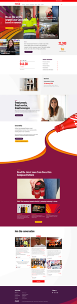 Coca Cola European Partners Website
