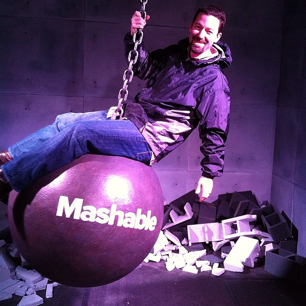 It's far too cold and wet at #sxsw to make a complete fool of myself...and take the jacket off. #mashable