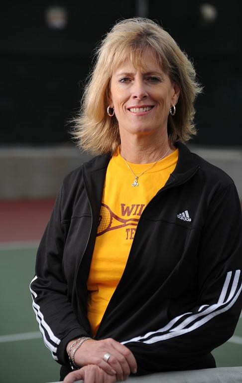 . Wilson High\'s Keri McBride is the Press Telegram\'s Boys Tennis Coach of the Year for 2013. 20130612 Photo by Steve McCrank / Staff Photographer