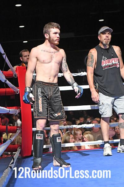 Bout 4 Amateur MMA Alex Quinn, Silver Wrist-wraps -vs- Adrean Walker, Blue Wrist-wraps