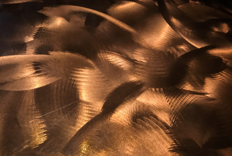 Metal Table Surface in Restaurant, Lake Oswego, 2017