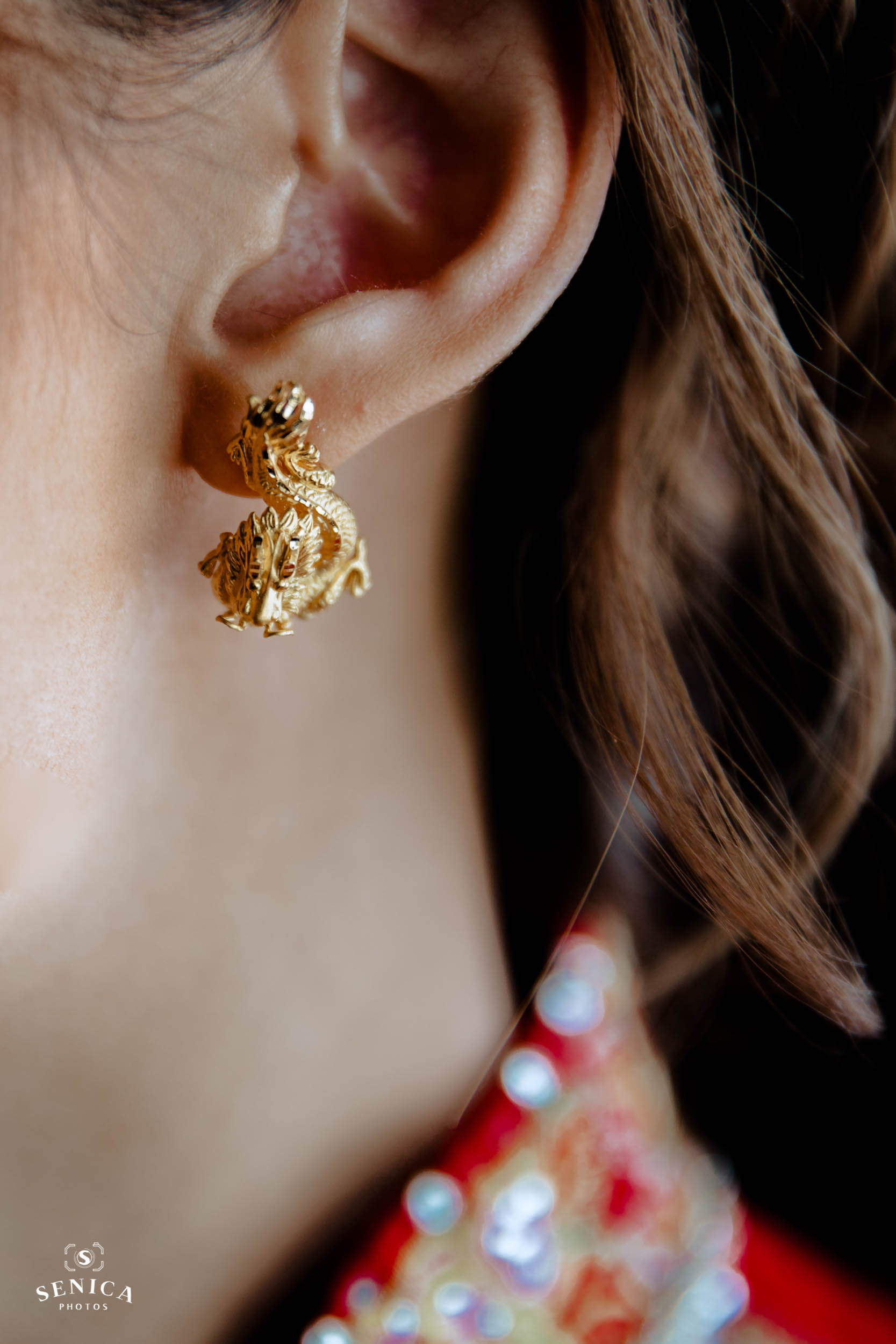 Gold Dragon Earring