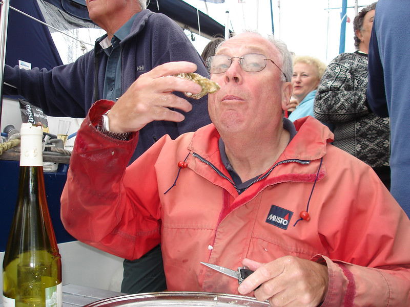 Bill Cartlidge, hosting the Oyster Party.