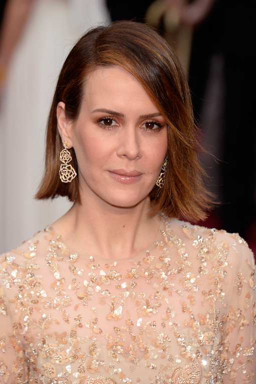. Actress Sarah Paulson attends the Oscars held at Hollywood & Highland Center on March 2, 2014 in Hollywood, California.  (Photo by Kevork Djansezian/Getty Images)
