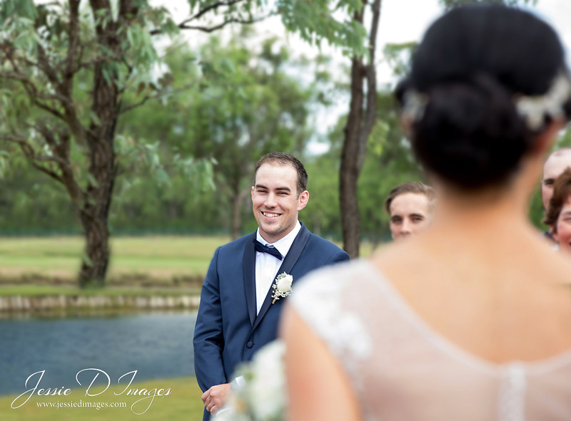 jessie d images - wedding photography hunter valley - ceremony - groom first look.jpg