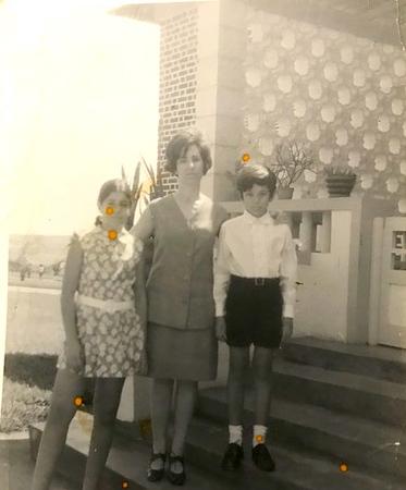 D. Cristina Henriques e filhos