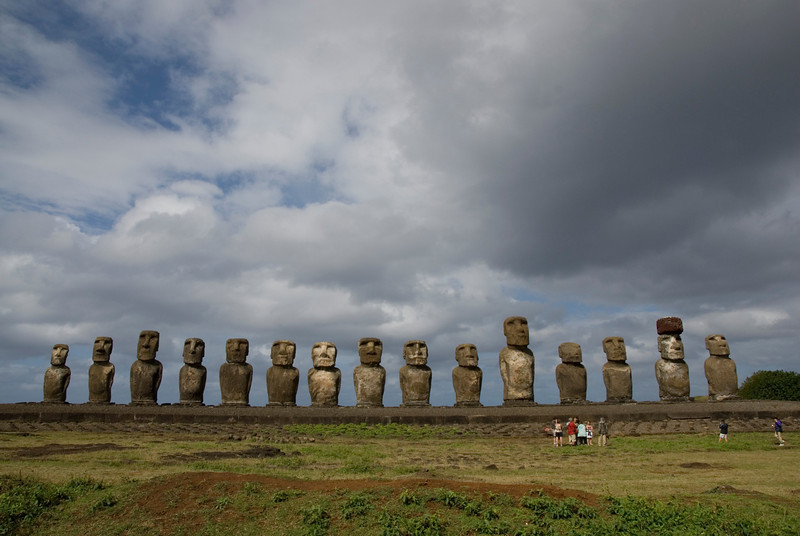 Restored Maoi in Rapa Nui - Easter Island