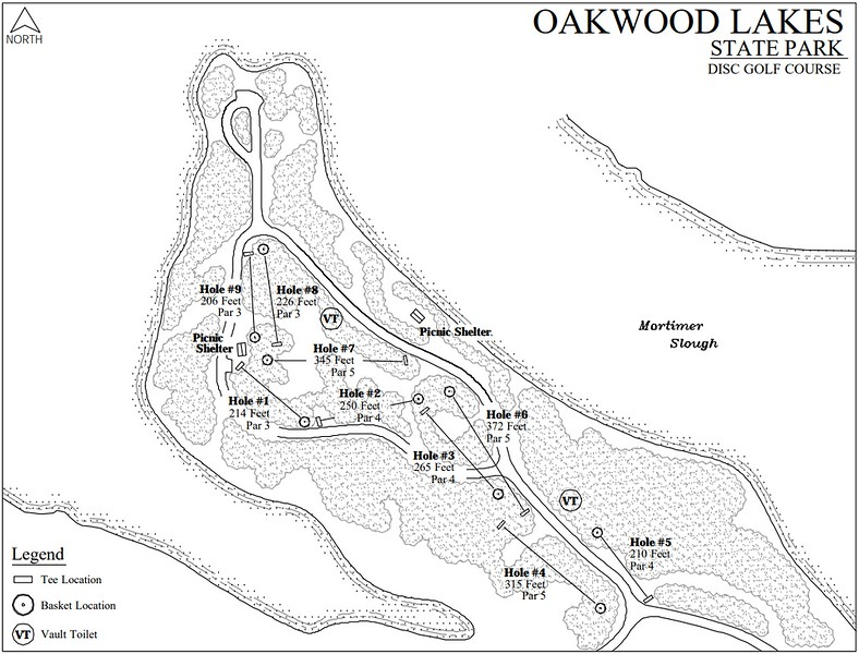 Oakwood Lakes State Park (Disk Golf Course Map)