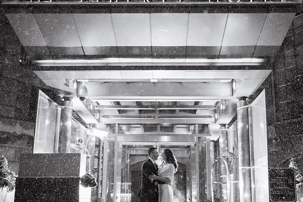 Michelle & Chris' Snowy Liberty Hotel Wedding