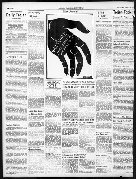 Daily Trojan, Vol. 31, No. 100A, March 09, 1940