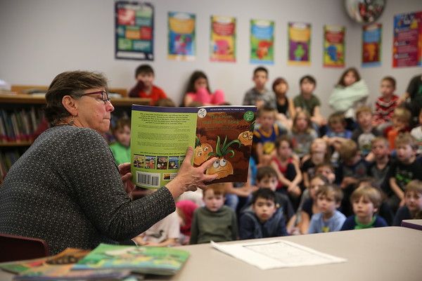 Author visit at Fisher Elementary School. 050219