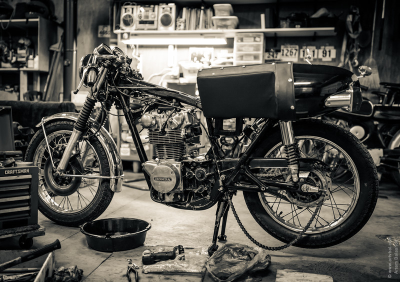 1973 Honda CB 450 - Bits of Final Reassembly After Transmission Repair
