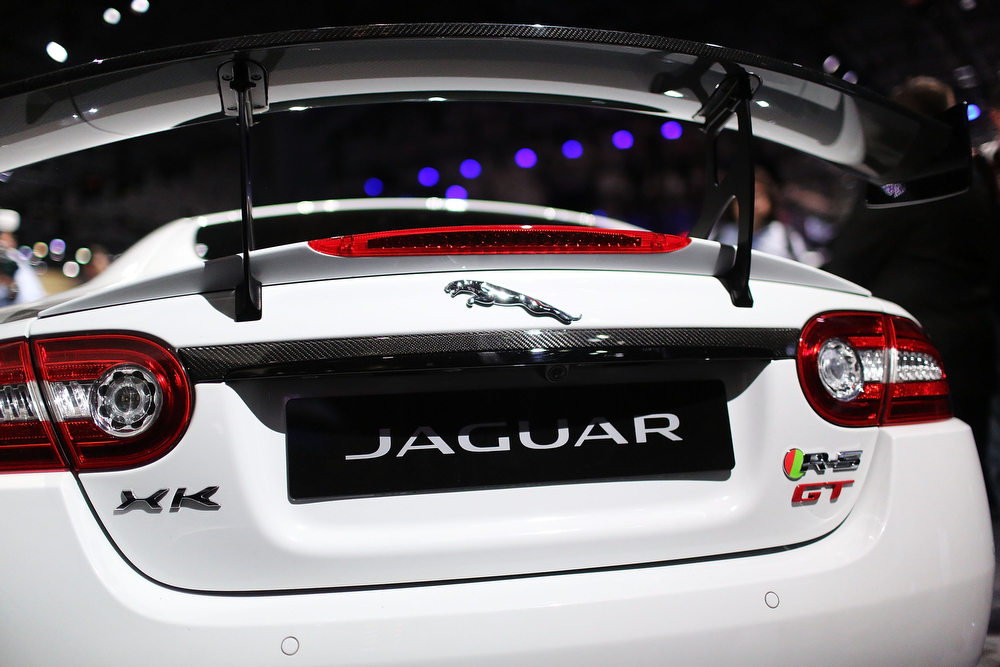 . The new Jaguar XKR-S GT, which will be available to a limited number of drivers in America, is displayed at the 2013 New York International Auto Show on March 27, 2013 in New York City.  The New York Auto Show will open to the public on Friday and run until April 7.  (Photo by Spencer Platt/Getty Images)